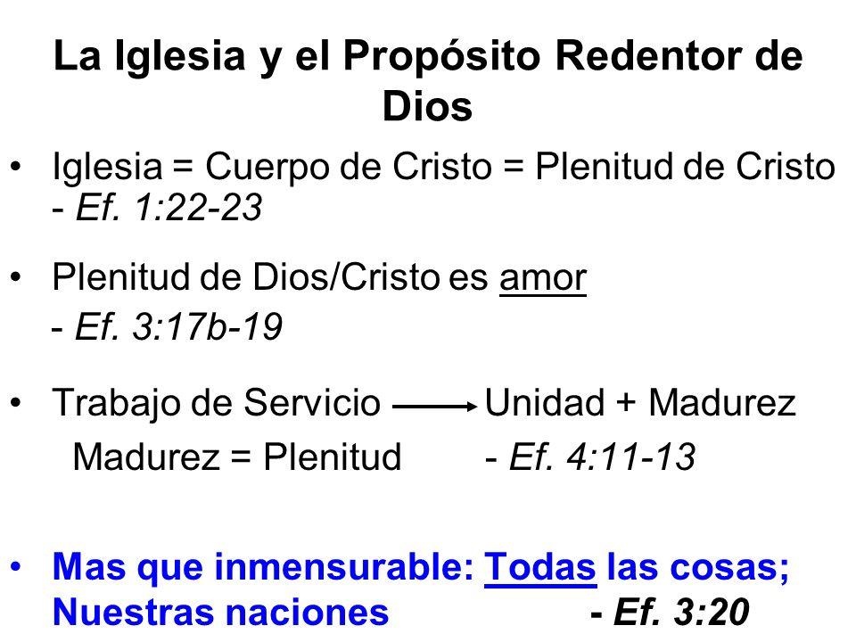 La Iglesia y el Propósito Redentor de Dios