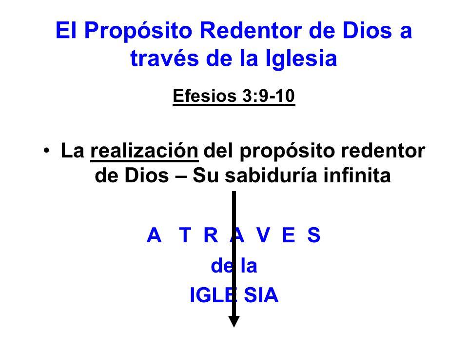 El Propósito Redentor de Dios a través de la Iglesia