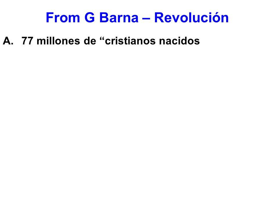 From G Barna – Revolución