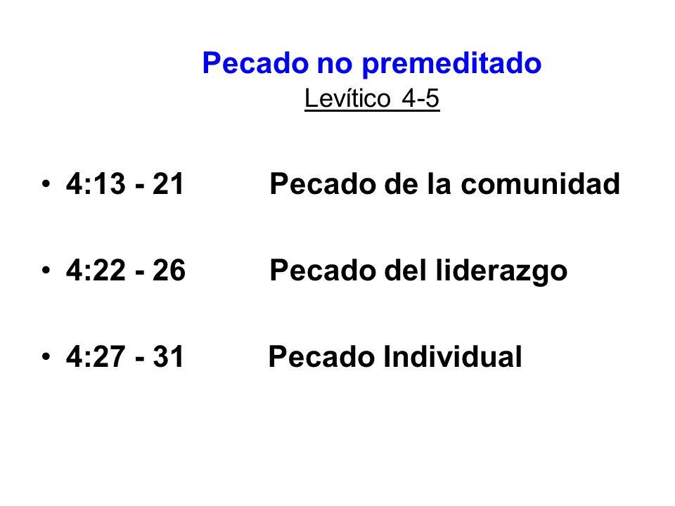Pecado no premeditado Levítico 4-5