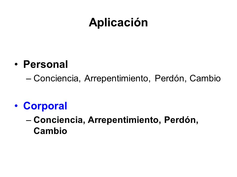 Aplicación Personal Corporal