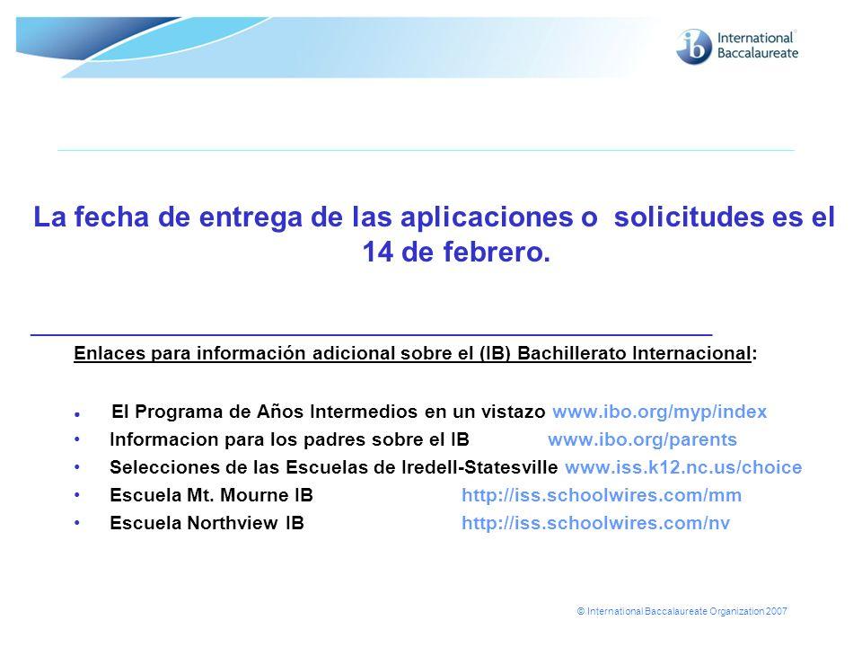 La fecha de entrega de las aplicaciones o solicitudes es el 14 de febrero.