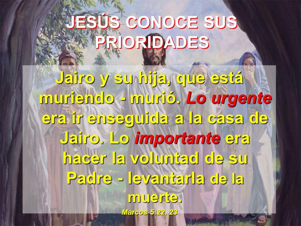 JESÚS CONOCE SUS PRIORIDADES