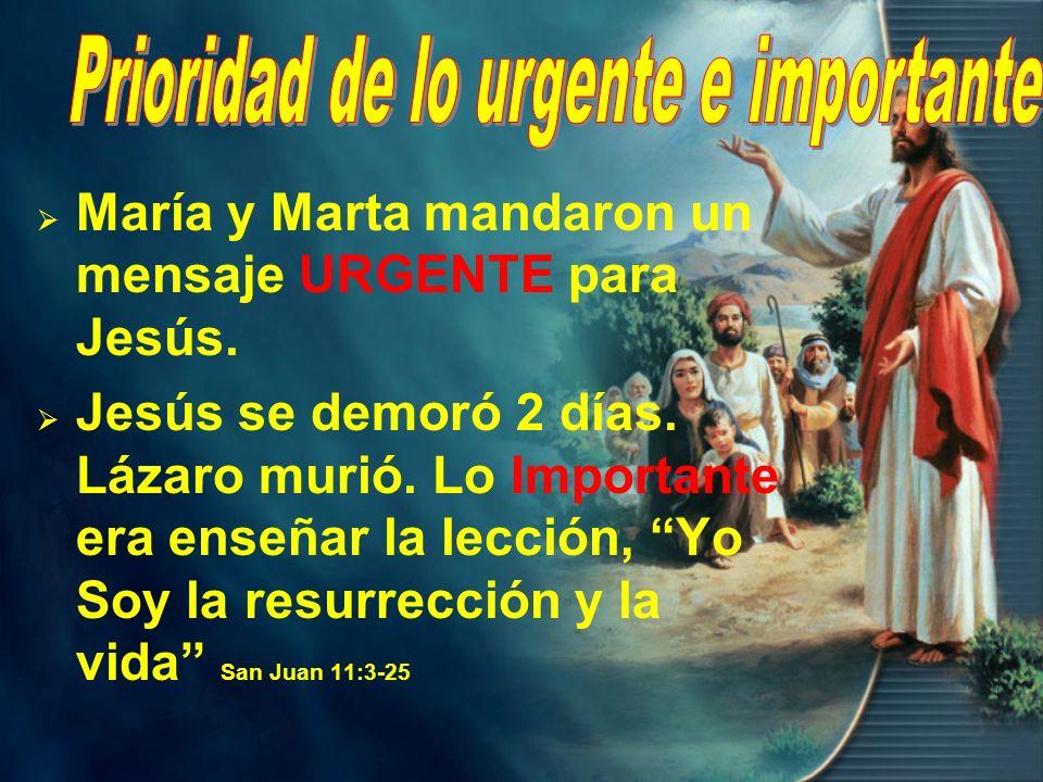 Prioridad de lo urgente e importante