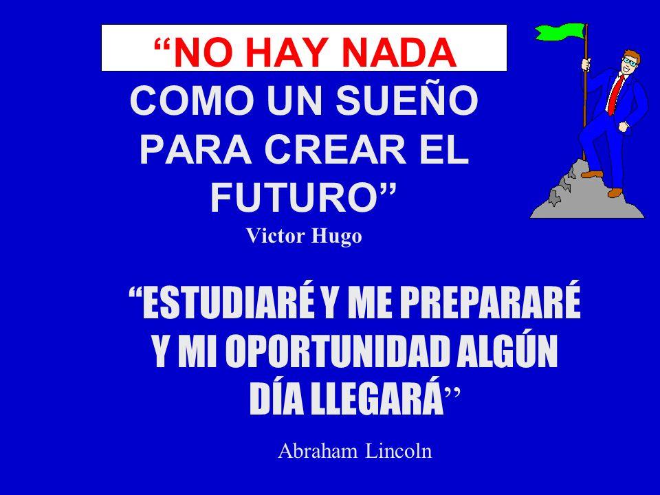 NO HAY NADA COMO UN SUEÑO PARA CREAR EL FUTURO Victor Hugo