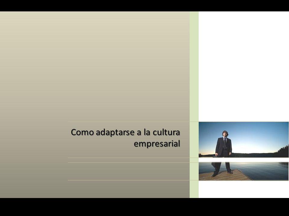Como adaptarse a la cultura empresarial