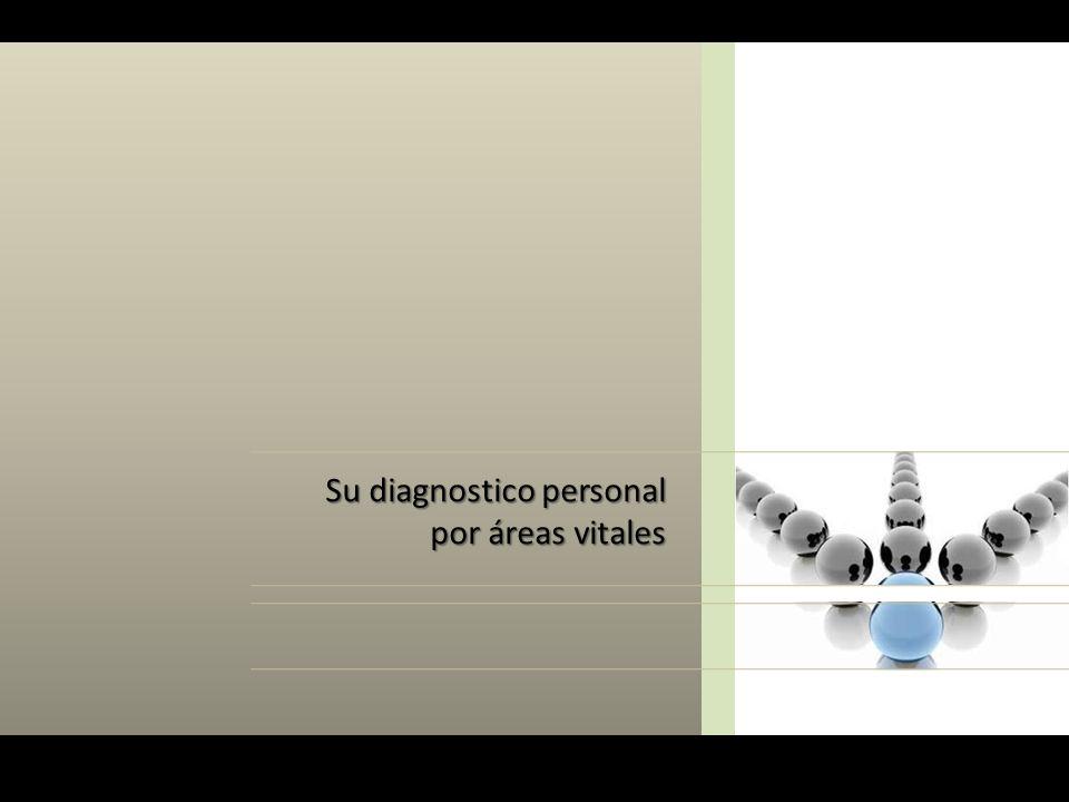 Su diagnostico personal por áreas vitales