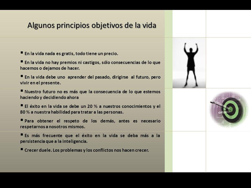 Algunos principios objetivos de la vida