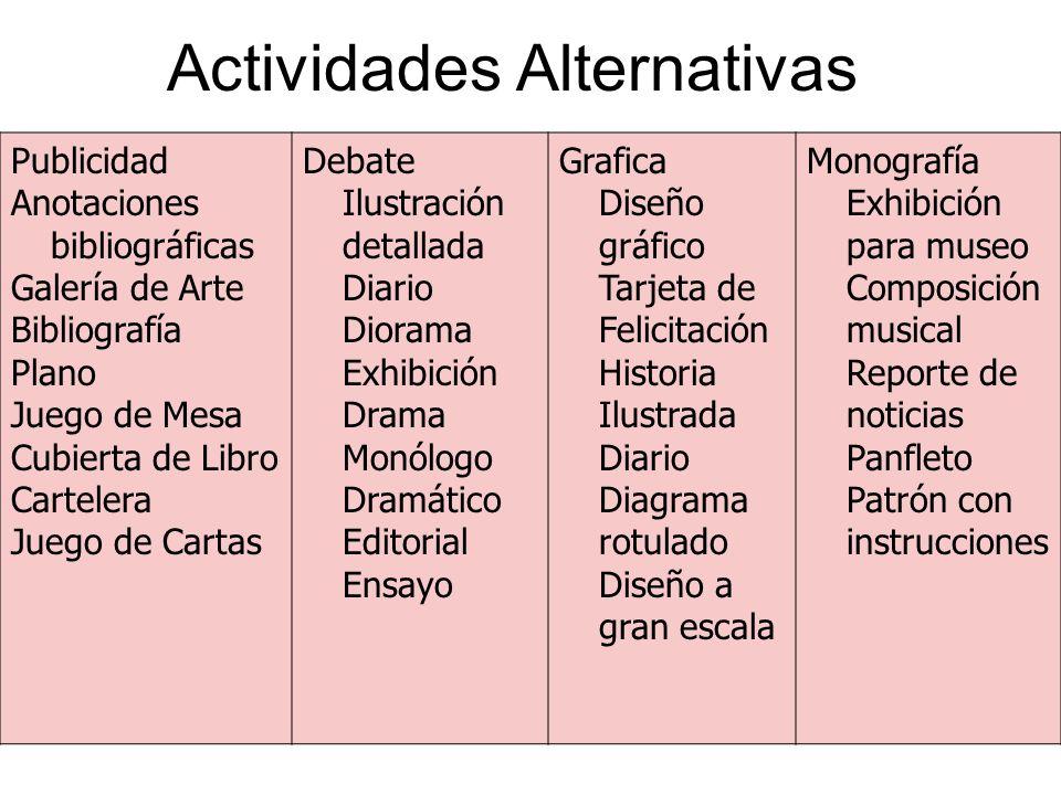 Actividades Alternativas