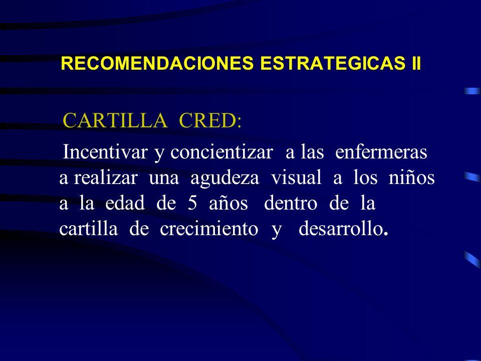 RECOMENDACIONES ESTRATEGICAS II