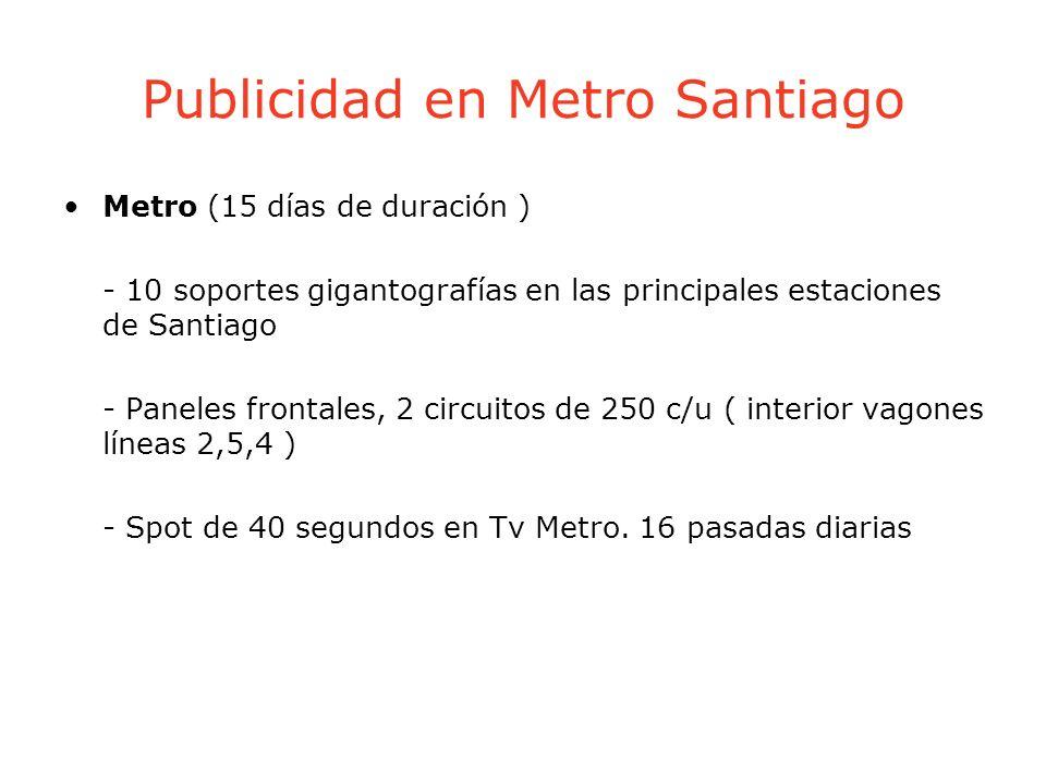 Publicidad en Metro Santiago