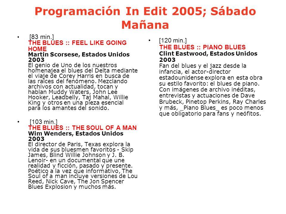 Programación In Edit 2005; Sábado Mañana