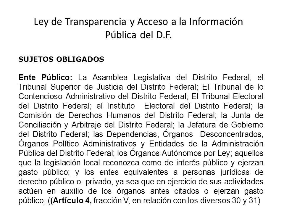 Ley de transparencia y acceso a la informaci n p blica del for Oficina de transparencia y acceso ala informacion