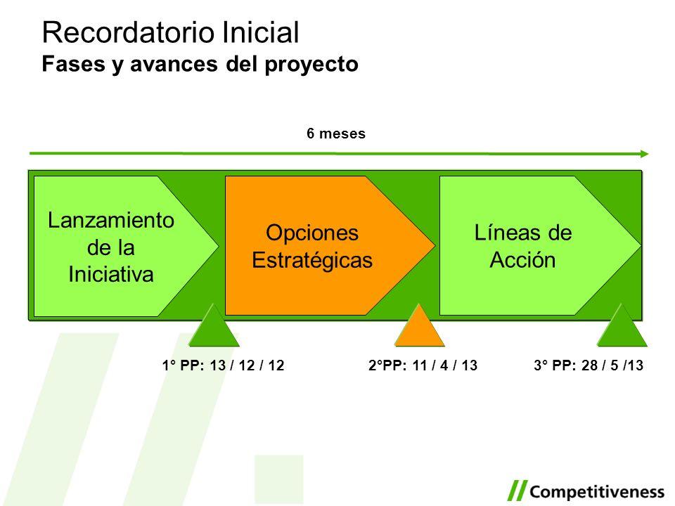Recordatorio Inicial Fases y avances del proyecto