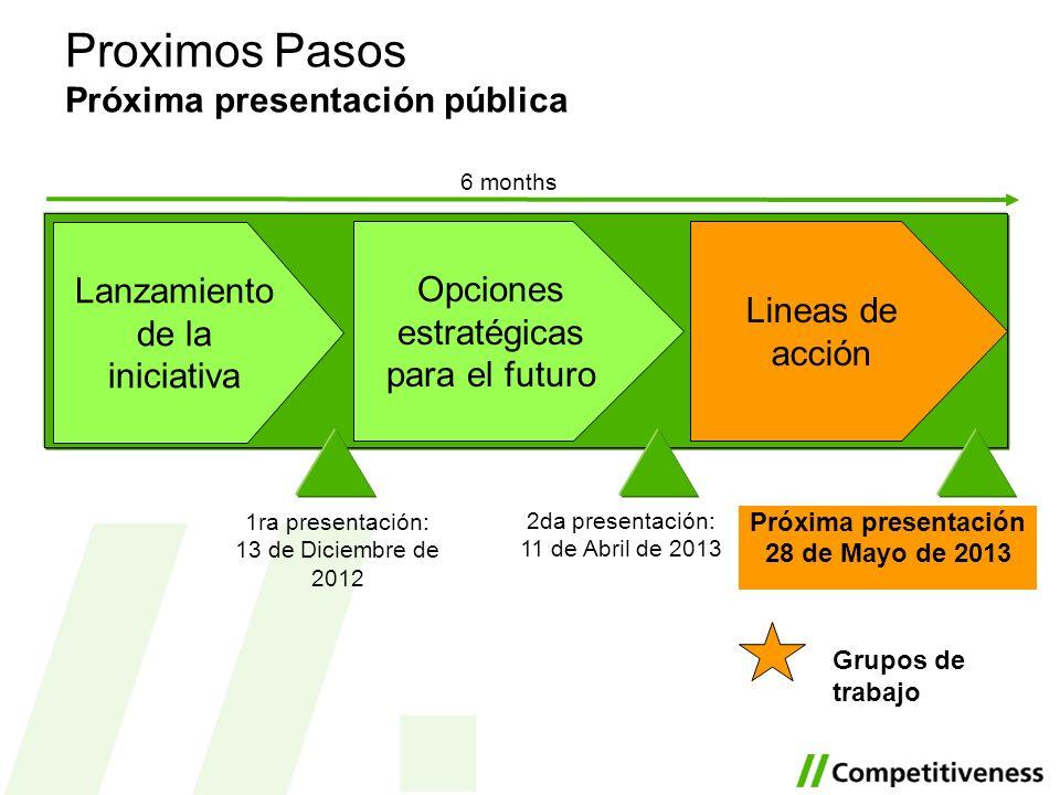 Proximos Pasos Próxima presentación pública