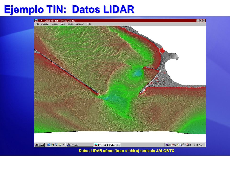 Ejemplo TIN: Datos LIDAR