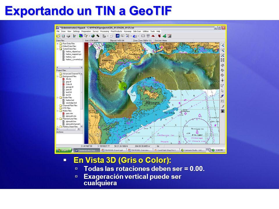 Exportando un TIN a GeoTIF