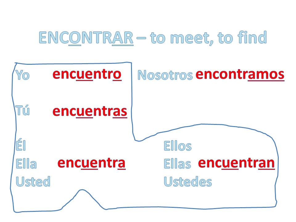 ENCONTRAR – to meet, to find