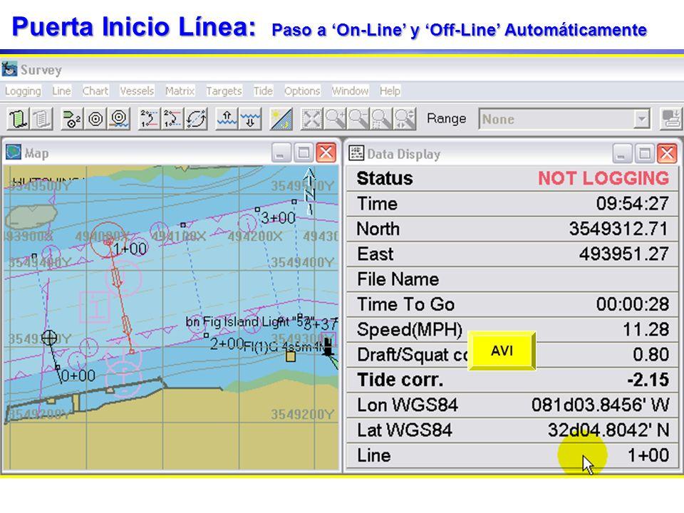 Puerta Inicio Línea: Paso a 'On-Line' y 'Off-Line' Automáticamente