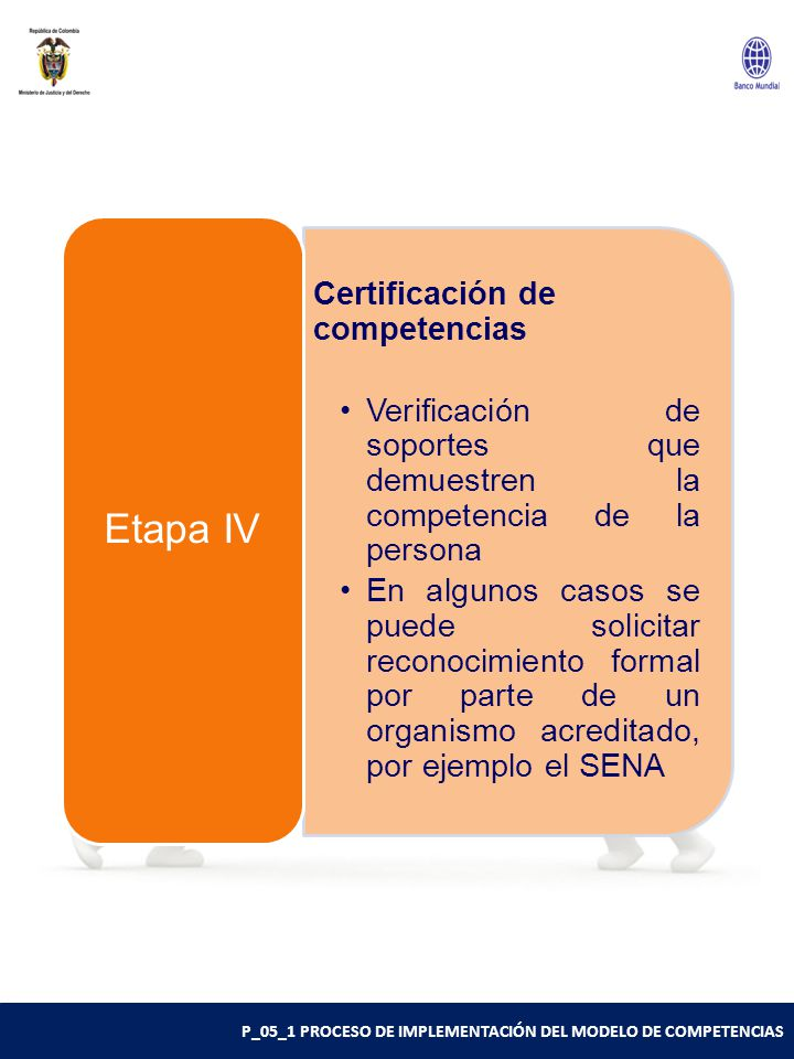 Etapa IV Certificación de competencias