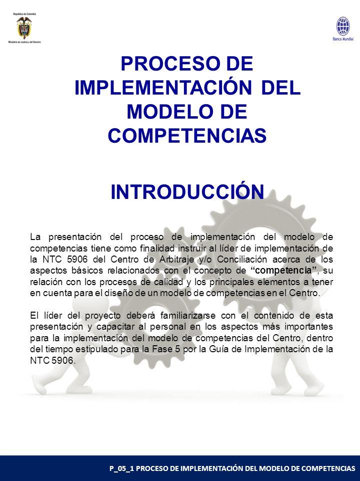 PROCESO DE IMPLEMENTACIÓN DEL MODELO DE COMPETENCIAS