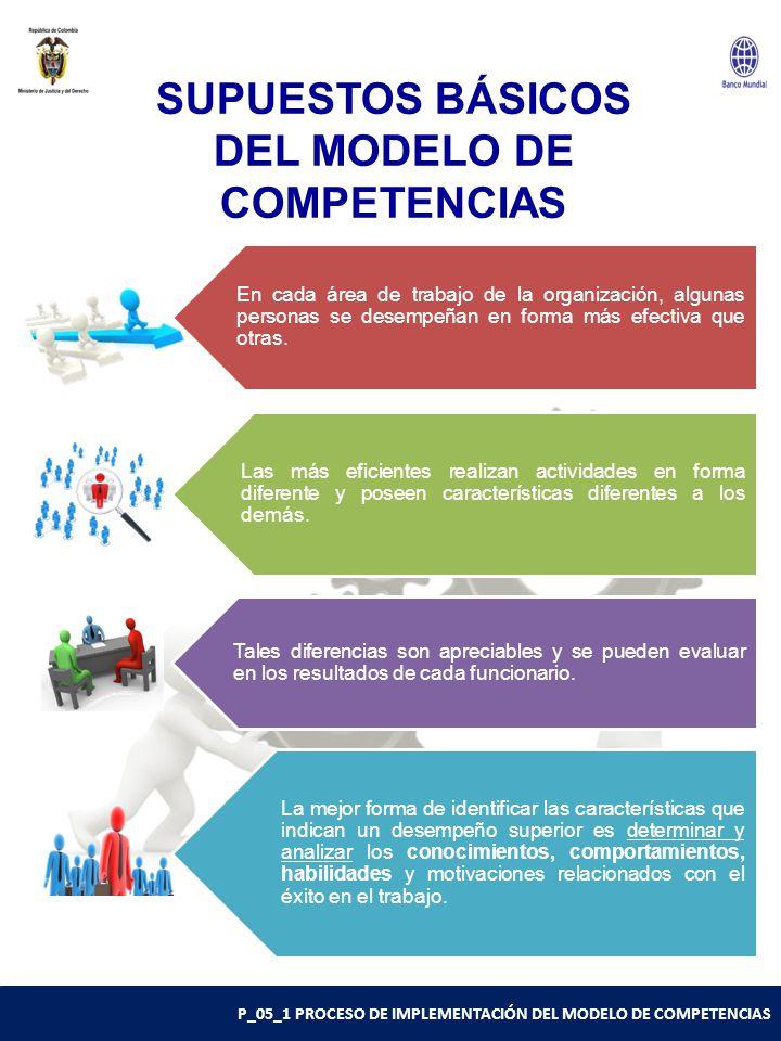 SUPUESTOS BÁSICOS DEL MODELO DE COMPETENCIAS