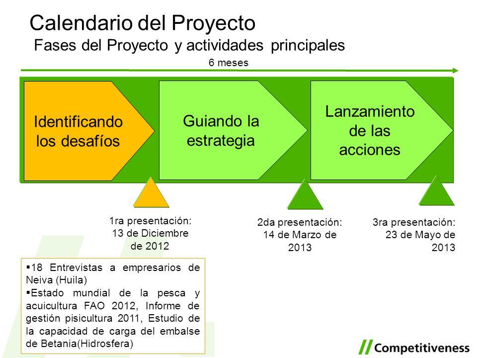 Calendario del Proyecto Fases del Proyecto y actividades principales