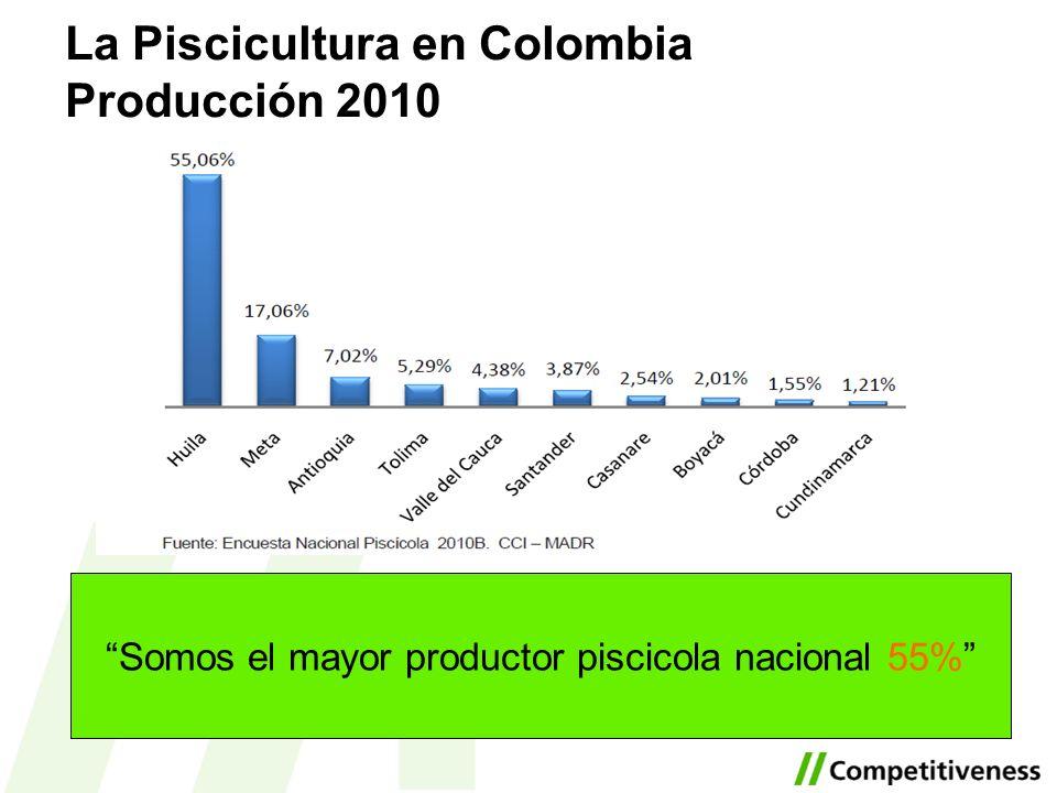 Somos el mayor productor piscicola nacional 55%