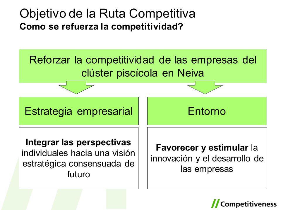 Objetivo de la Ruta Competitiva Como se refuerza la competitividad
