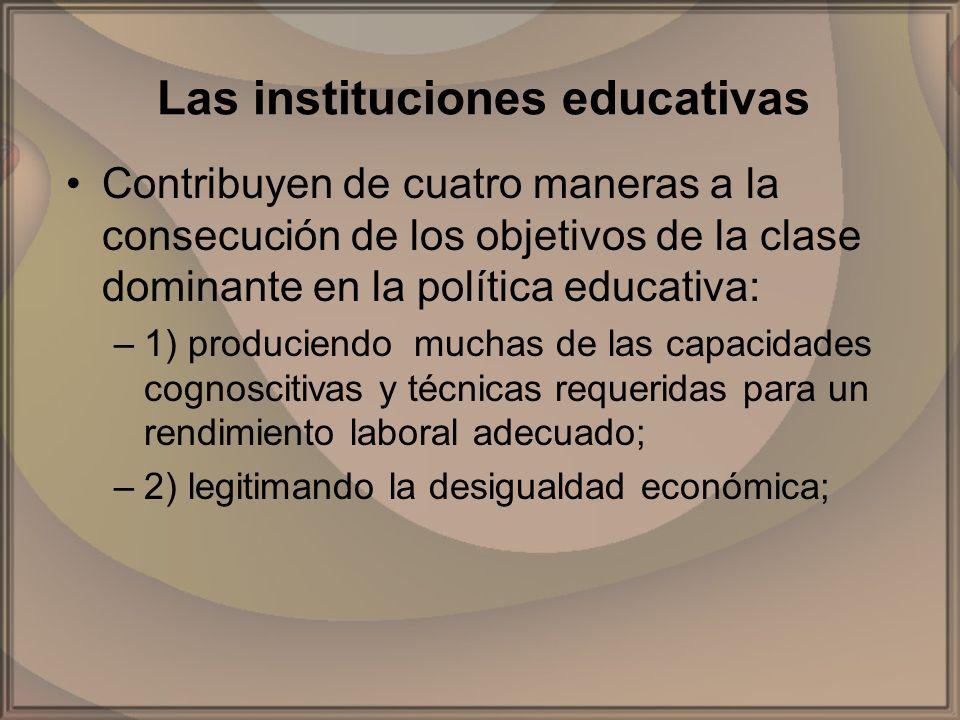 Las instituciones educativas