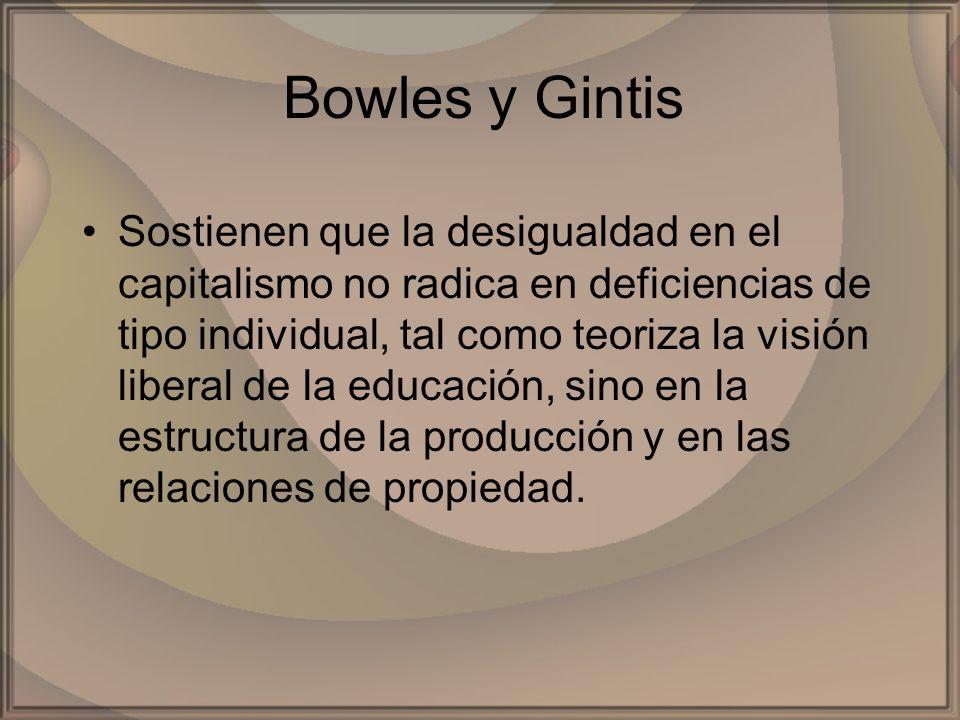Bowles y Gintis