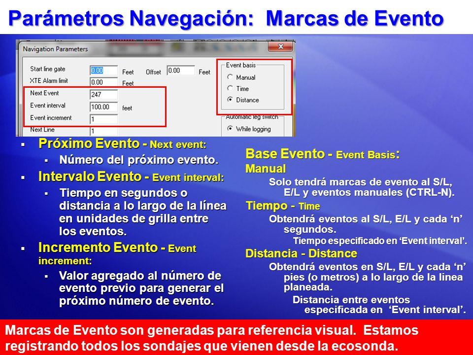 Parámetros Navegación: Marcas de Evento