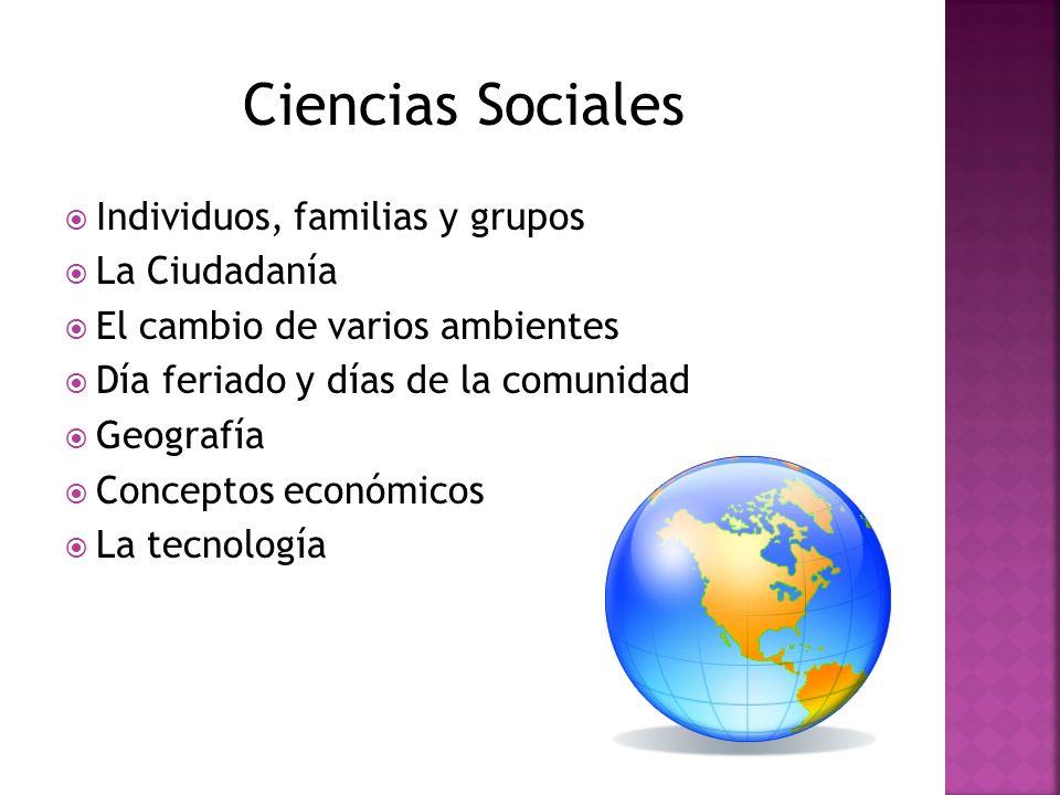 Ciencias Sociales Individuos, familias y grupos La Ciudadanía