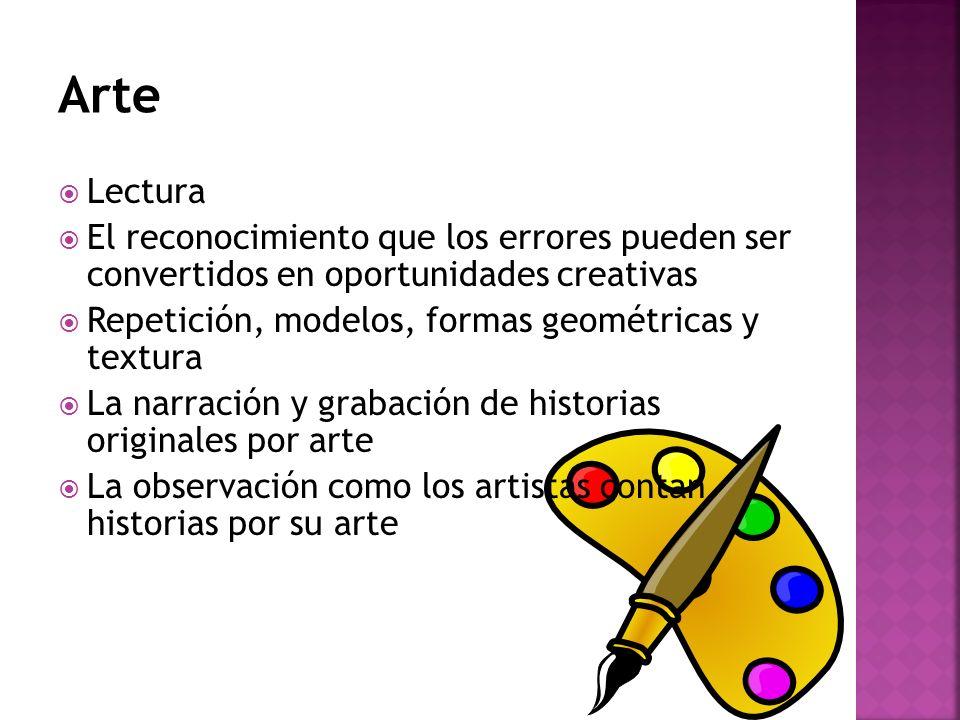 Arte Lectura. El reconocimiento que los errores pueden ser convertidos en oportunidades creativas.