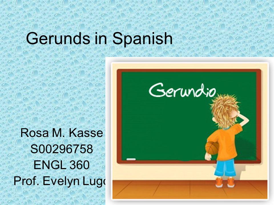 Rosa M. Kasse S00296758 ENGL 360 Prof. Evelyn Lugo