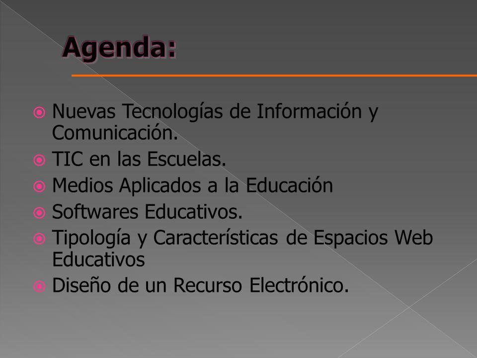 Agenda: Nuevas Tecnologías de Información y Comunicación.