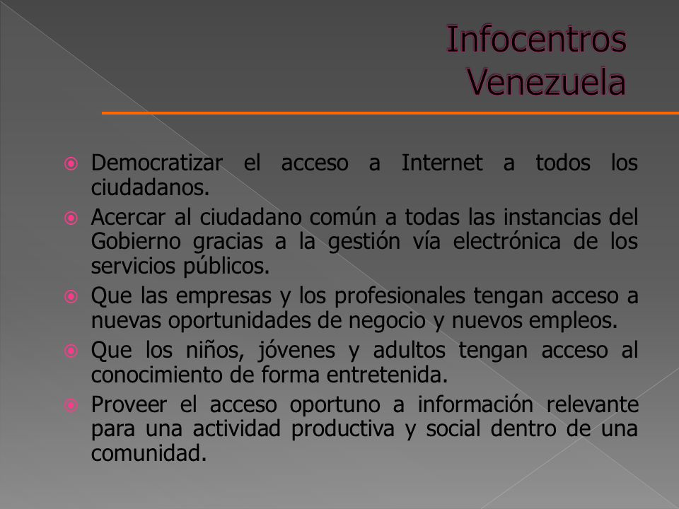 Infocentros Venezuela