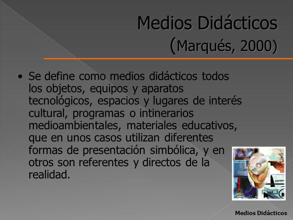 Medios Didácticos (Marqués, 2000)