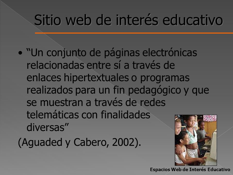 Sitio web de interés educativo
