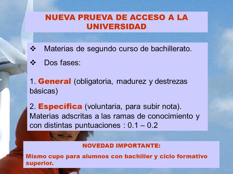 NUEVA PRUEVA DE ACCESO A LA UNIVERSIDAD