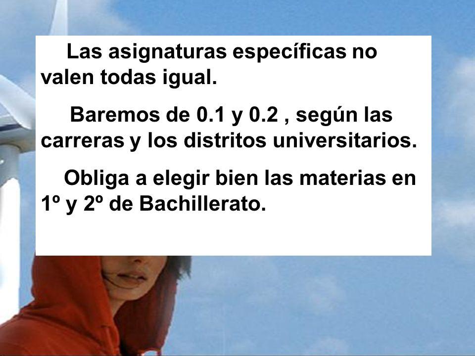 Obliga a elegir bien las materias en 1º y 2º de Bachillerato.