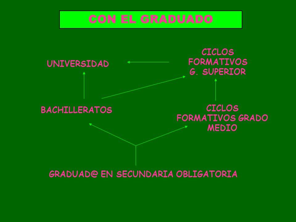 CON EL GRADUADO CICLOS FORMATIVOS G. SUPERIOR UNIVERSIDAD