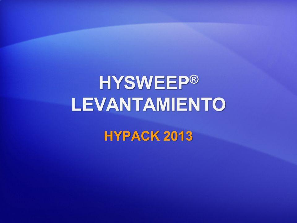 HYSWEEP® LEVANTAMIENTO