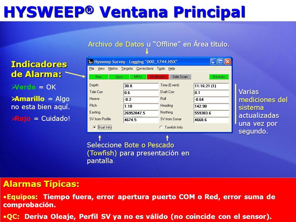 HYSWEEP® Ventana Principal