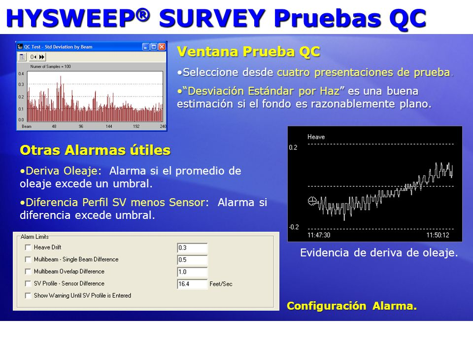 HYSWEEP® SURVEY Pruebas QC