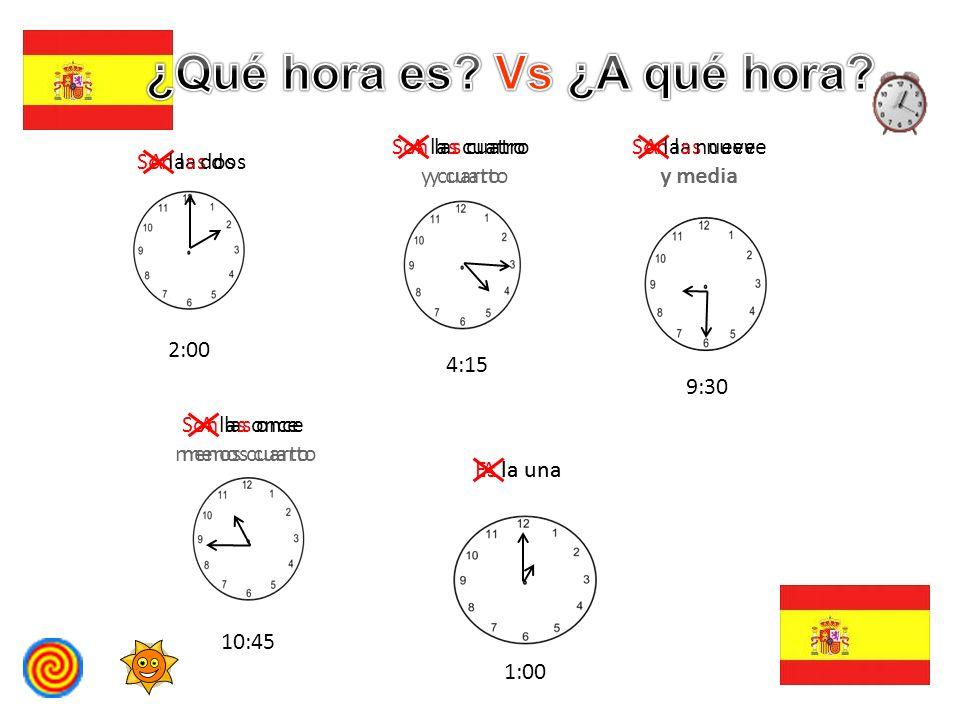 ¿Qué hora es Vs ¿A qué hora