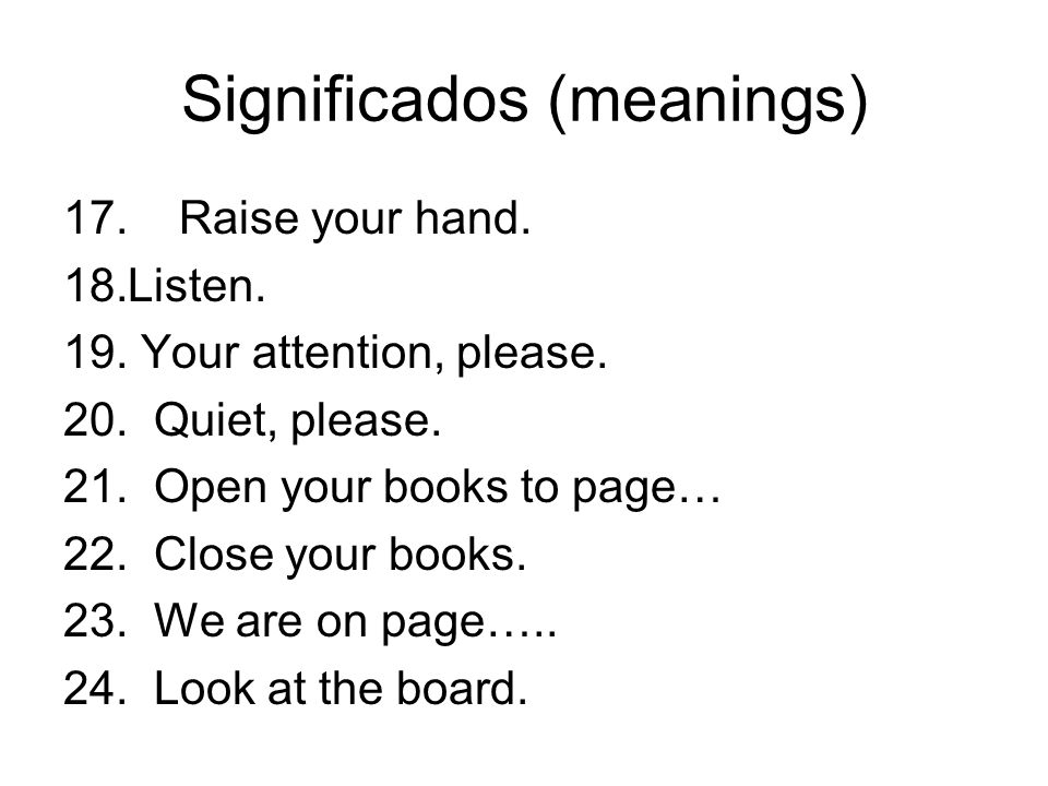 Significados (meanings)
