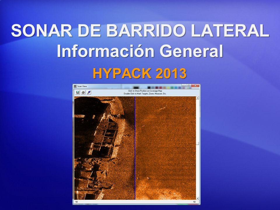 SONAR DE BARRIDO LATERAL Información General