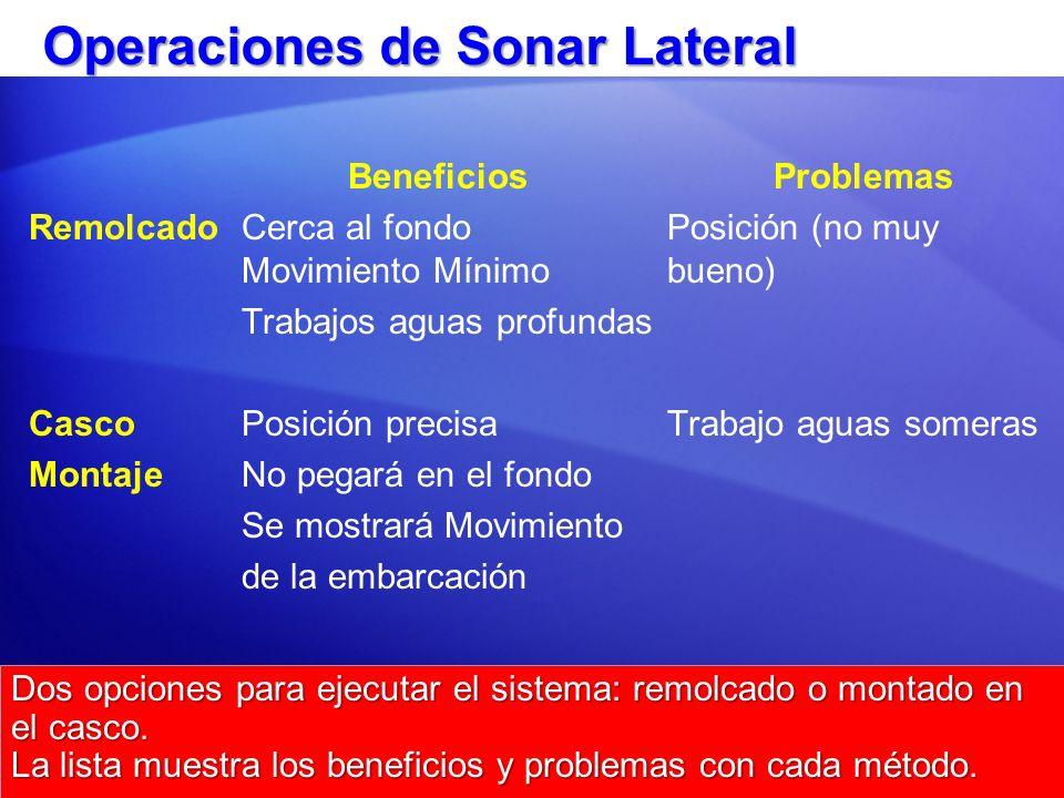 Operaciones de Sonar Lateral