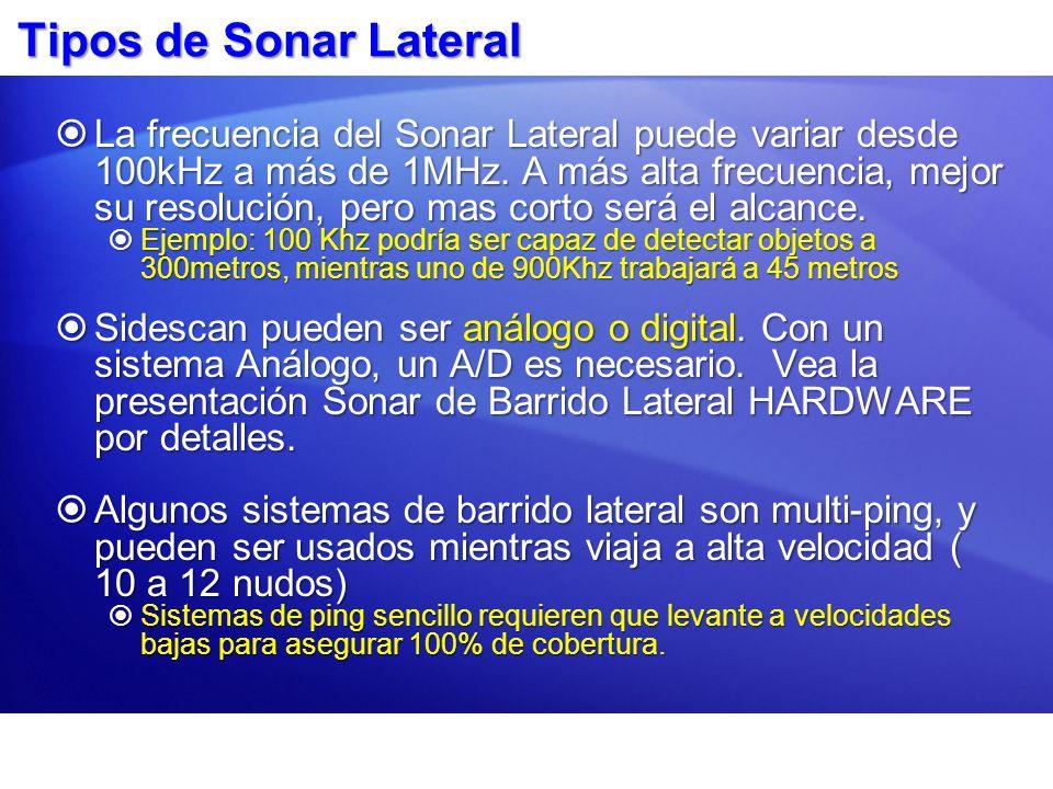 Tipos de Sonar Lateral